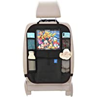 Kick Mats Car Seat Back Protectors Back of Seat Organizers-iPad Tablet Holder,Toy Storage for Baby,Black Kick Mats,Seat…