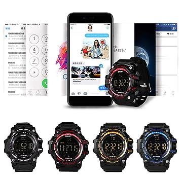 Voiks Reloj Inteligente Bluetooth, Smartwatch Impermeable Smart Watch con Camara, Sports Podómetro Reloj Bracelet para Android iOS Teléfono Hombre Mujer ...