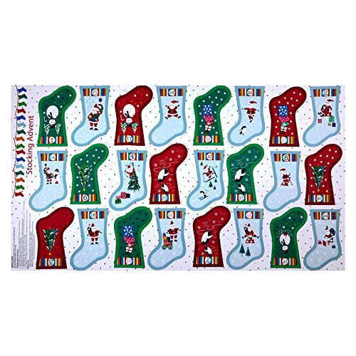 - Andover Makower Jolly Santa Stocking Advent 24