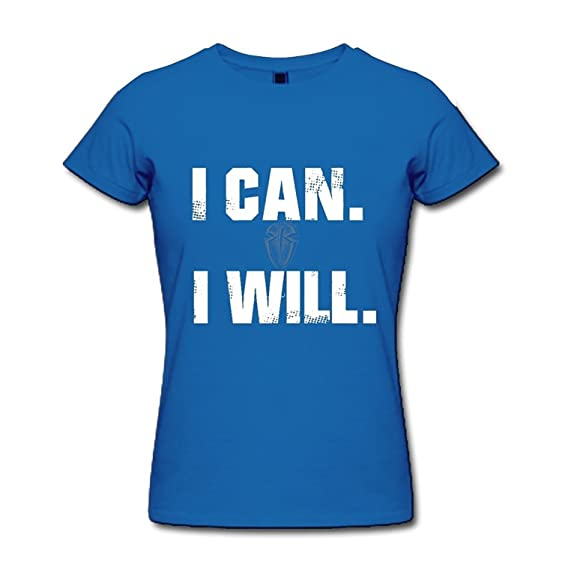 amazon com zhengmao women s roman reigns i can i will logo t