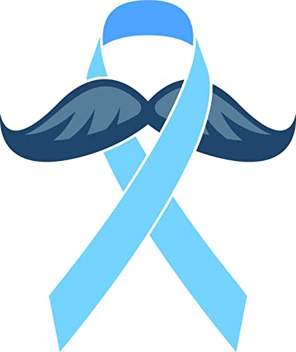 "2x Two PROSTATE Cancer Awareness Ribbon Car Vinyl Decal Sticker 3/""x5/"" Light Blue"