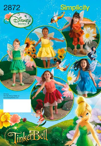 Silvermist Costume (Simplicity Sewing Pattern 2872 Child Costumes, A (3-4-5-6-7-8))
