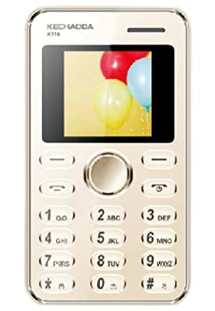 55d79fc7a7a Kechaoda K116 1.44 inch QQVGA Display Slim Card Size GSM Single SIM Keypad  Mobile (Gold