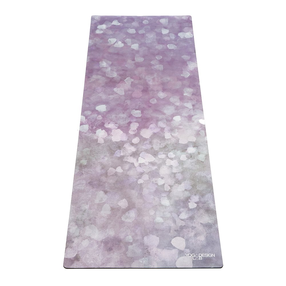 YOGA DESIGN LAB The Commuter Yoga MAT Lightweight, Foldable, Eco Luxury Mat/Towel | Ideal for Hot Yoga, Bikram, Pilates, Barre, Sweat | 1.5mm Thick | Includes Carrying Strap! (Fantessa)