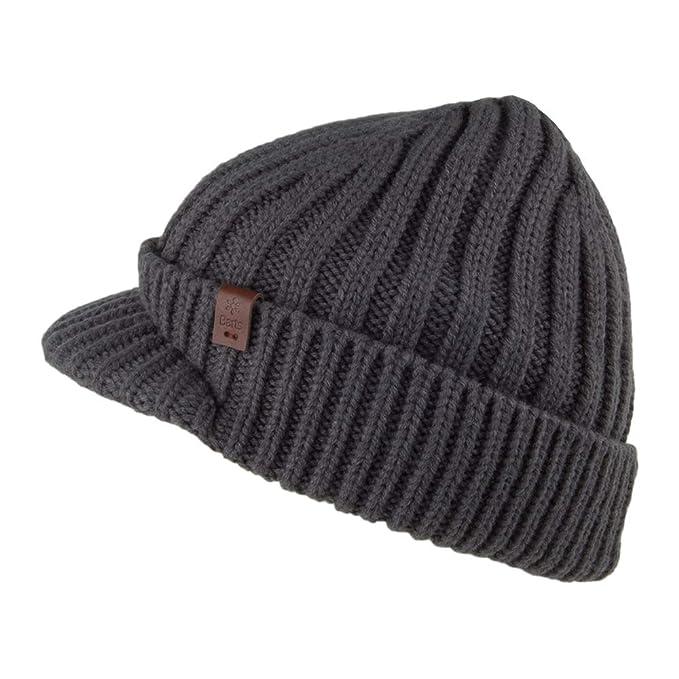 dcae3b388a1 Barts Hats Silo Peaked Beanie Hat - Blue 1-Size  Amazon.co.uk  Clothing