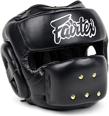 Adjustable Good Headgear Head Guard Practical Training Helmet Kick Boxing Protection Gear Black