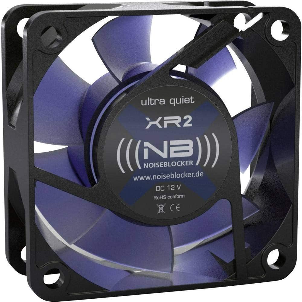 Noiseblocker ITR-XR-2 - Ventilador para Caja de Ordenador (2200 RPM, 15 dB, 5 V), Negro
