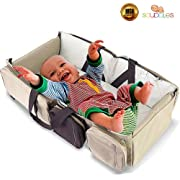 Scuddles- 3-1| Portable Bassinet | for Baby | Foldable Baby Bed | Travel Bassinet Functions As A Diaper Bag and Changing Station, Easy Folding for Travel (2)
