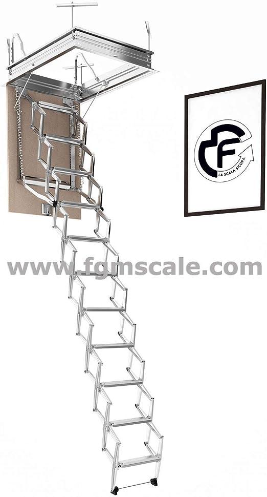 Escalera Escamoteable Pantógrafo Buhardilla pantógrafo manual lado ...