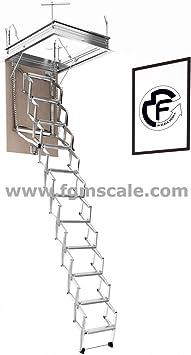Escalera Escamoteable Pantógrafo Buhardilla pantógrafo manual lado S70: Amazon.es: Bricolaje y herramientas