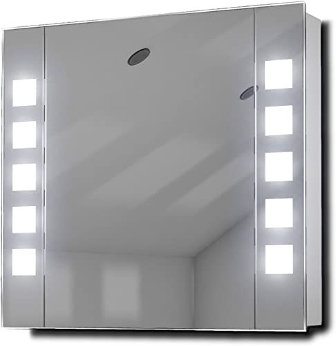 DIAMOND X COLLECTION Noble LED Bathroom Mirror Cabinet with Sensor Shaver k16