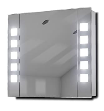 Noble LED Illuminated Bathroom Mirror Cabinet With Sensor Shaver K16