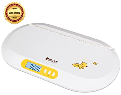 Boston Tech BA-104 - Bascula para bebés. Balanza digital con pantalla LCD y