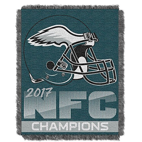 Woven Triple Layer Tapestry Throw (Philadelphia Eagles NFL 2017 NFC Champions Woven Tapestry Throw (48