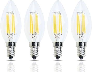 Modern LED Bulbs E14 4W LED Candle Lights 4 SMD 2835 320lm Warm White//Cool White AC 85-265V 85-265v