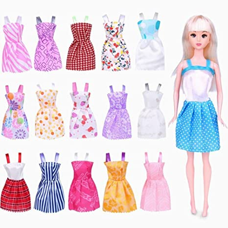 5395534689 Xiton 16 Pack Barbie Doll Ropa