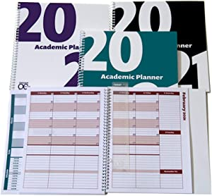 2020-2021 Academic Planner, A Tool for Time Management, Daily, Weekly & Monthly School Agenda for Keeping Students On Track & On Time, (July 2020-June 2021), Size 8.5x8.25, Purple