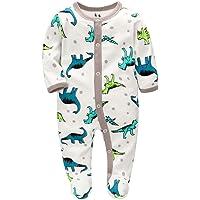 YWLINK Mono ReciéN Nacido 0-12 Meses Pijama Suave Y CóModo De Mezcla De AlgodóN De Manga Larga Traje De Escalada Animal…