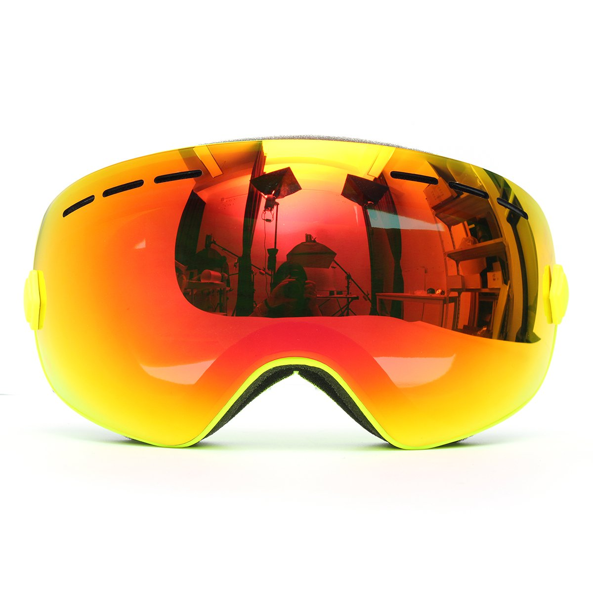Viviance Snowboard Ski Goggle Anti-Nebel-Schwing Doppel-Lens Uv-Motorrad-Reiten Gelb Rahmen