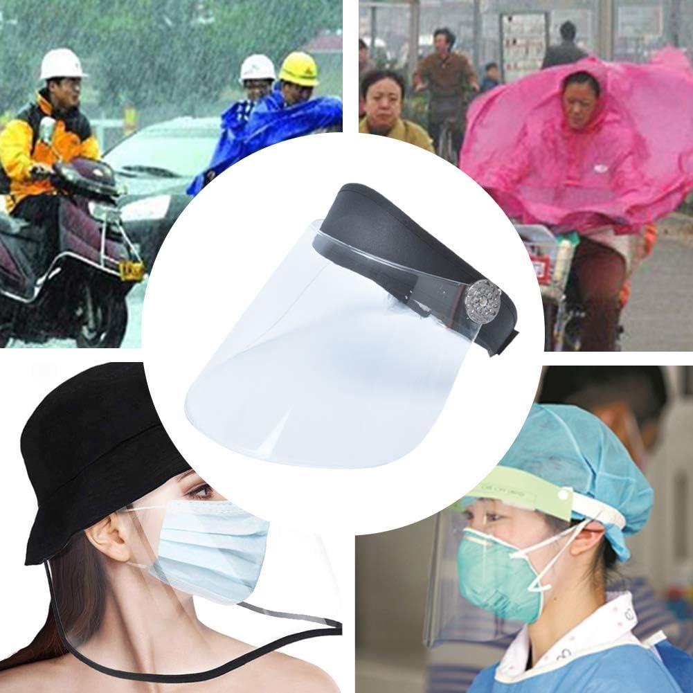 FEOYA Visiera Protettiva di Sicurezza Protezione Completa Visiera Anti-Saliva Antiappannamento Visiera Ampia Chiara Visiera Cappello Visiera Parapolvere