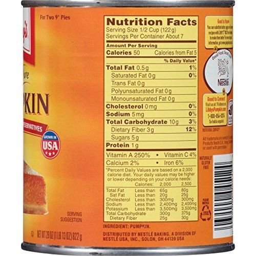 libby's pumpkin nutritional value