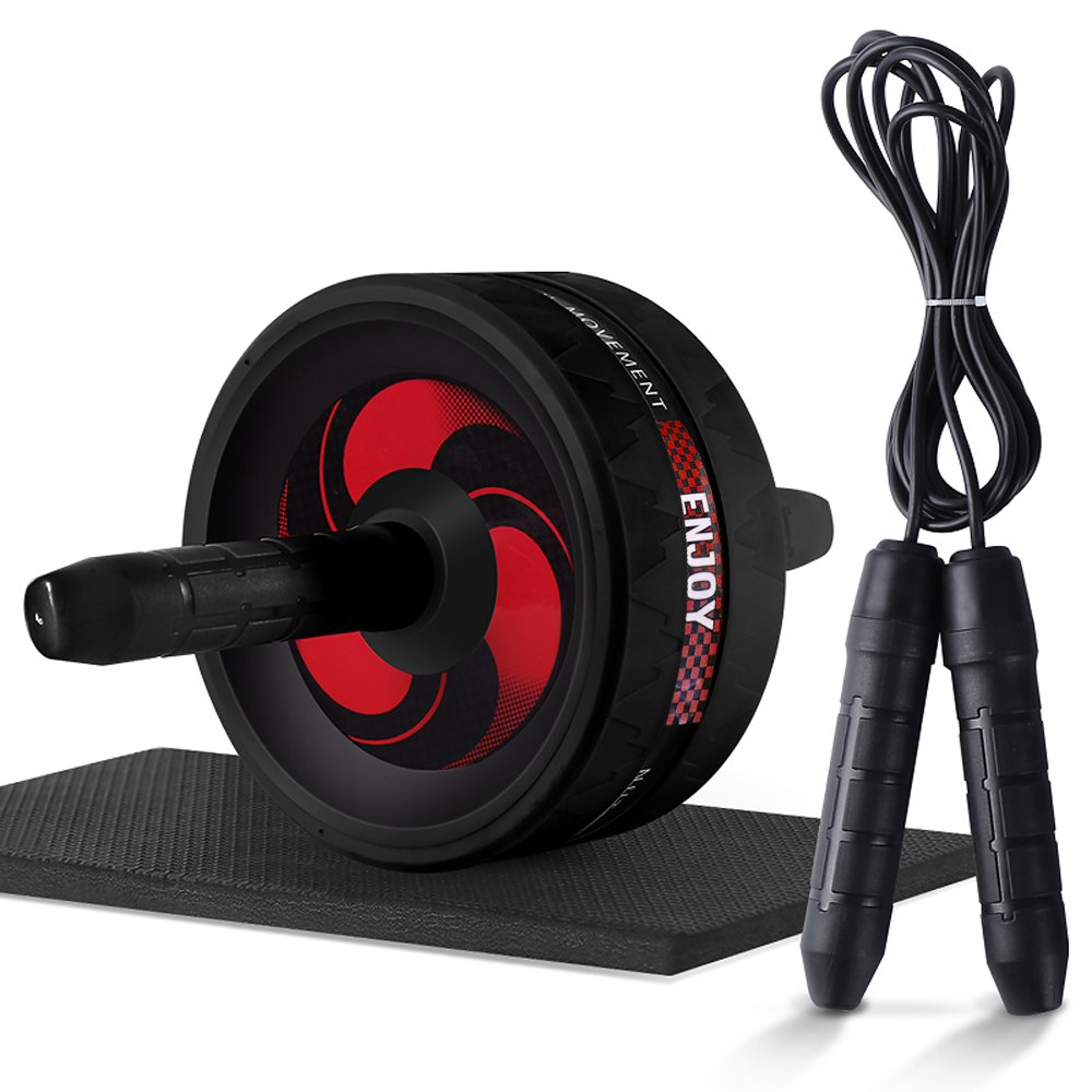 Ab Roller Wheel, Abdominal Exercise Wheel for Core Strength Training | with Knee Pad-BEST Core&Abs workout for home&outdoor by Hoteck