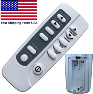Replacement for Frigidaire Air Conditioner Remote Control FRA106CT10 FRA106CT11 FRA106CT12 FRA106CT13 FRA106CT14 FRA106CV1 FRA106CV110 FRA106CV111 FRA106CV113 FRA106CV114 FRA106CV115 FRA106CV116