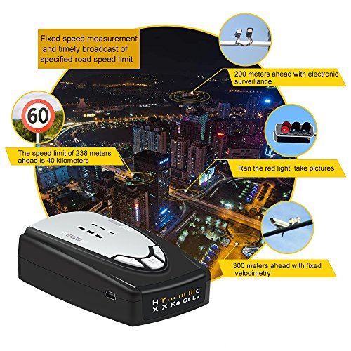 Ruidon M6 Laser Radar Detector Lone Range Speed Camera Voice Alerts with 360 Degree Detection by Ruidon (Image #4)