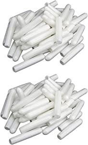 JinYu Universal Dishwasher Rack Tine Prong Repair End Cover Caps, Long 1 inch Round Tips, Just Push on to Repair White/Gray 50 Pcs (White)