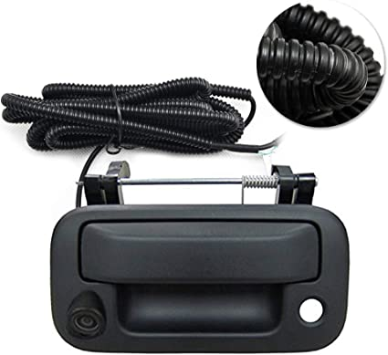 For Ford F-150 F-250 Super duty Black Tailgate Handle with Color  Backup Camera