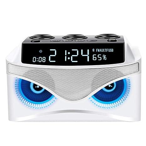 MJBOY Reloj Despertador Altavoz Bluetooth Tres Altavoces 2.1 ...