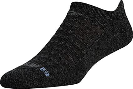 Medium, Graphite Heathered 2 Pair . Drymax Lite-Mesh Sock- Packaged No Show Tab