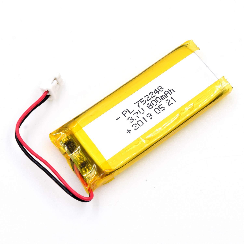 Bateria Lipo 3.7V 800mAh 752248 Recargable JST Conector