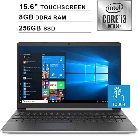 2020 NexiGo Upgraded Pavilion 15.6 Inch Touchscreen Laptop| 10th Gen Intel Core i3-1005G1 (Beats i5-7200U)| 8GB DDR4 RAM| 256GB SSD| Intel UHD Graphics| HDMI| WiFi| Bluetooth| Webcam| Windows 10