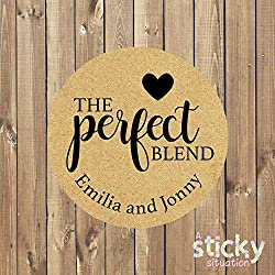 Personalized The Perfect Blend Stickers Wedding Stickers Wedding Labels Wedding Favour Stickers Love is Brewing Tea Coffee Chocolate