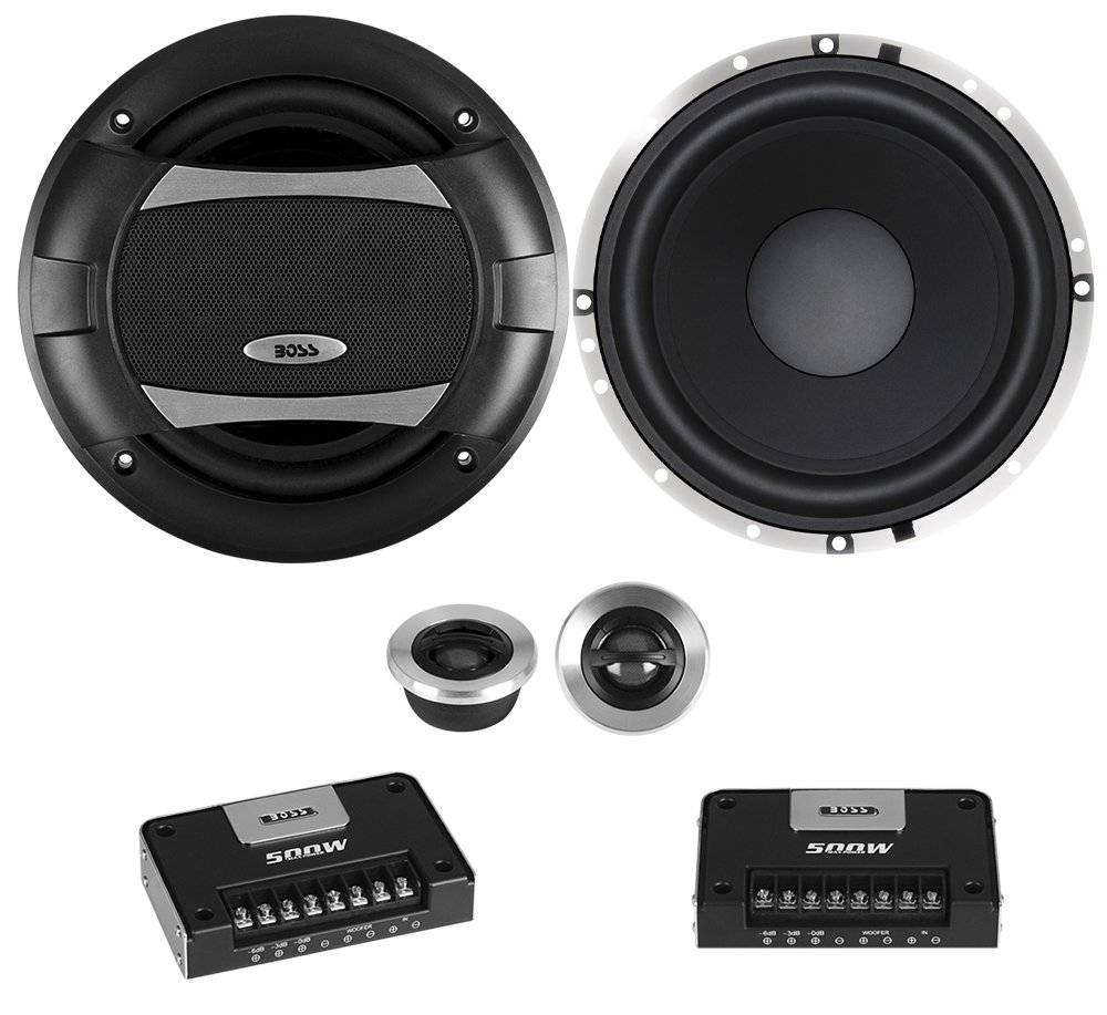 BOSS Audio PC65.2C 500 Watt (Per Pair), 6.5 Inch, Full Range, 2 Way Car Component Speaker System With 2 Tweeters and 2 Crossovers by BOSS Audio Systems (Image #1)