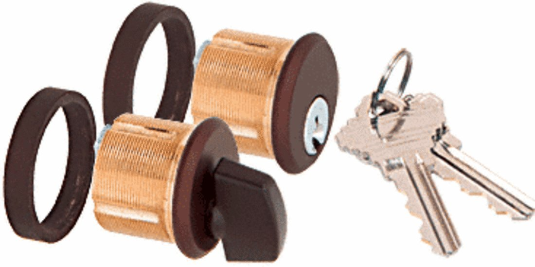 CRL Duranodic Bronze Finish AMR215 Series Keyed Cylinder and Thumbturn for Use With AMR215 Series Patch Lock