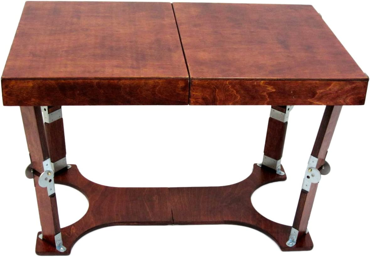 Spiderlegs Folding Coffee Table, 28-Inch, Mahogany