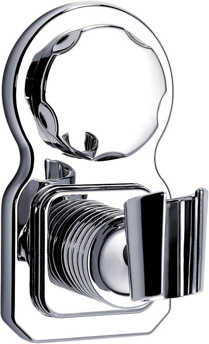 Silver Fewear Shower Head Holder Vacuum Suction Cup Shower Head Wall Mount Holder Removable Handheld Showerhead /& Bidet Sprayer Adhesive Bracket Chrome