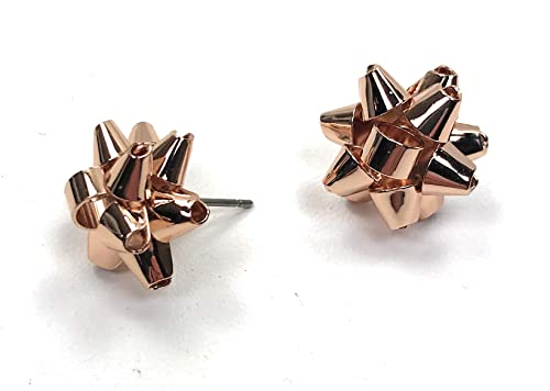 36ffaf2a5a17c Kate Spade Bourgeois Bow Stud Earrings, Rose Golden