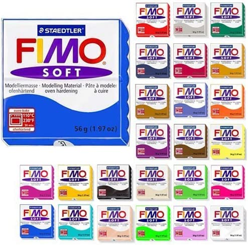 Staedtler Fimo Soft 8022-75 Oven Hardening Modelling Clay 350g Chocolate