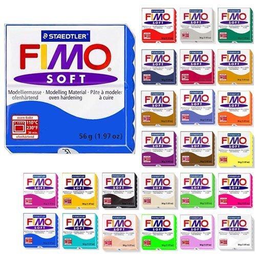 56g Block (Fimo Soft Starter Pack 12 x 56g Multicolour Blocks by Steadtler)