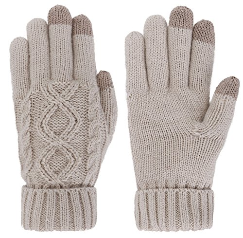 Lullaby Winter Touchscreen Knit Gloves Wool Lining Texting for Smartphones