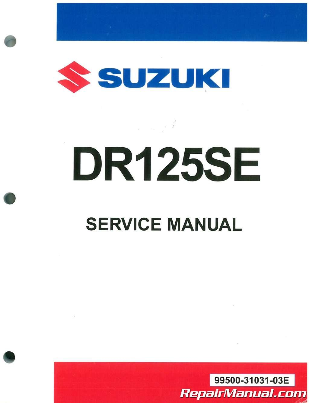 99500-31031-03E 1994-1996 Suzuki DR125SE Jebel Service Manual:  Manufacturer: Amazon.com: Books