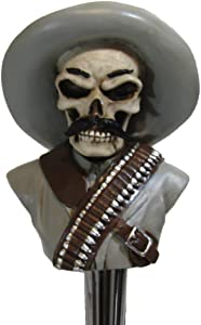 Pancho Villa Kegerator Beer Tap Handle Home Bar Zombie Skull