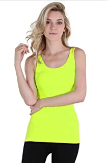 97b699cc930743 Nikibiki Women s Wide Strap Long Tank Top