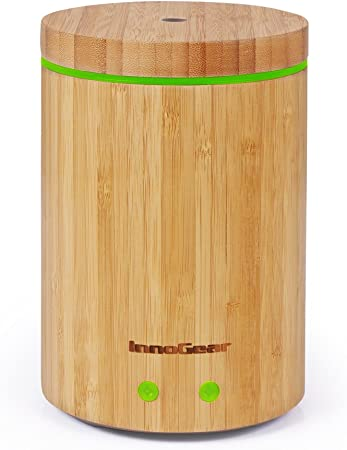 InnoGear Real Bamboo Essential Oil Diffuser, Ultrasonic Aromatherapy Diffusers Cool Mist Humidifier BPA Free Waterless Auto Shut Off (Large)
