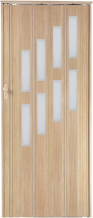 Puerta abatible de corredera asche de color claro con cierre y altura de ventana de 203 cm, ancho de montaje máx. 85 cm, perfil de doble pared nuevo.: Amazon.es: Bricolaje y herramientas
