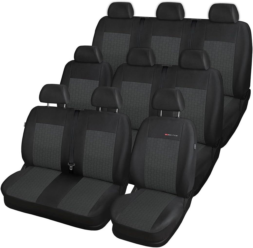 Elegance E1 Maßgeschneidert Autoschonbezug Set 9 Sitzer Vordersitze Sitzbank Geteilt 5902311269327 Auto
