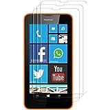 Accessory Master 5055907858075 Film de protection d'écran en verre trempé pour Nokia Lumia 630/635 Transparent